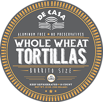 Whole Wheat Tortillas - Burrito Size