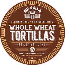 Whole Wheat Tortillas - Regular Size